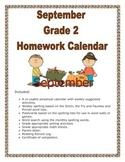 Free Sample September Calendar Grade 2