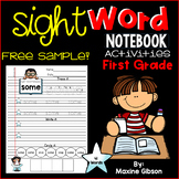 Free Sample Sight Word Notebook Activities First Grade