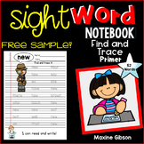 Free Sample Sight Word Notebook Find and Trace Primer