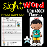 Free Sample Sight Word Notebook Fluency Primer