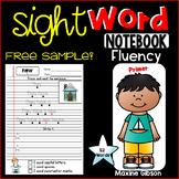 Free Sample Sight Word Notebook Fluency Primer