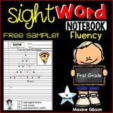 Free Sample Sight Word Notebook Fluency First Grade