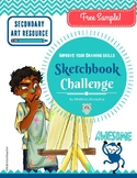 Free Sample-Sketchbook Challenge-Secondary Art Resource
