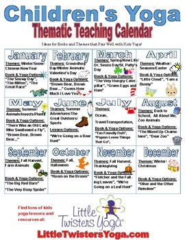 Free Sample Thematic Kids Yoga Teaching Calendar