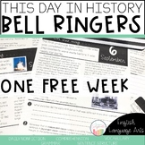 Free Sample This Day in History September Bell Ringers | Morning Work