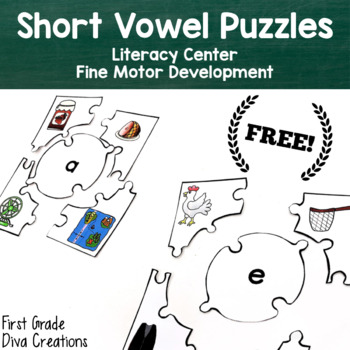 Free Sample Vowel Sleuth {Printable Literacy Centers for Vowel Sounds}
