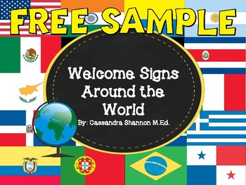 Free Sample! Welcome Signs Around the World