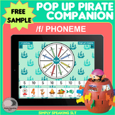 Free Sample /f/ Phoneme Pop Up Pirate Game Companion - for Speech and Language