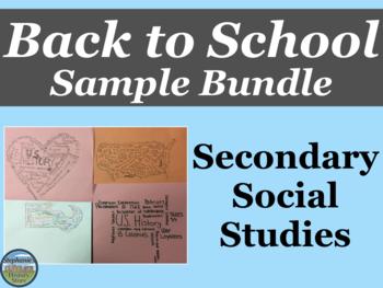 Sample of Back to School Teacher Bundle for Social Studies