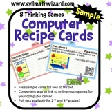Free Sample of Computer Recipe Cards for Online Math Game Success