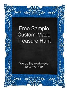 Free Sample of Custom-Made Treasure Hunt