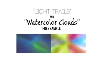 "Free Sample of ""Light Trails"" and ""Watercolor Clouds"" Background Packs"