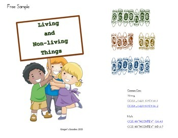 """Free Sample of """"Living and Non-Living Things"""""""