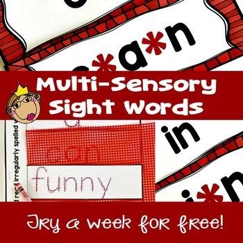 Free Sight Word Practice | Multi-Sensory Instruction