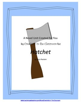 Free Sample of My Hatchet Novel Unit Plus Grammar