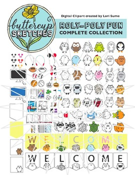 Free Sample of Roly Poly Clip Art Collection: Bear and all accessories