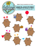 Free Sample of Roly Poly Clip Art Collection: Bear and all