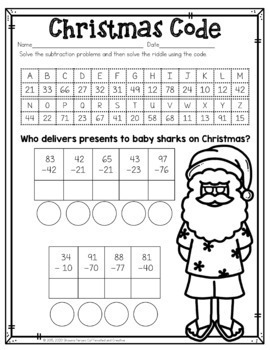 Free Sample of Year Long Literacy and Math No Prep Bundle for Second Grade