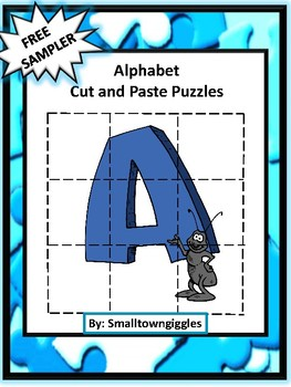 Alphabet Free Sampler Cut and Paste Puzzles