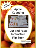 Free Sampler Apple Counting Cut and Paste Flip Book P-K,K, Special Ed, Autism