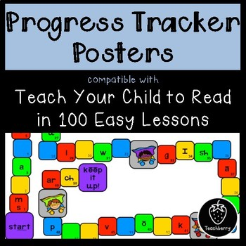 Progress Tracker Posters - Compatible w/ Teach Your Child to Read in 100 Lessons