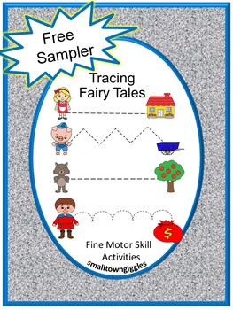 Free Sampler Fine Motor Skills Fairy Tale Tracing Activities