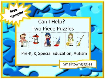 Free Sampler Life Skills, Can I Help Two Piece Puzzles, Kindergarten, Special Ed