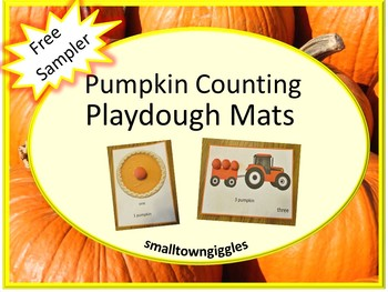 Free Sampler Pumpkin Counting Playdough Mats Special Education, Autism