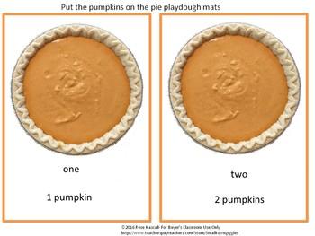 Free Sampler Pumpkin Counting Playdough Mats Special Education, Autism