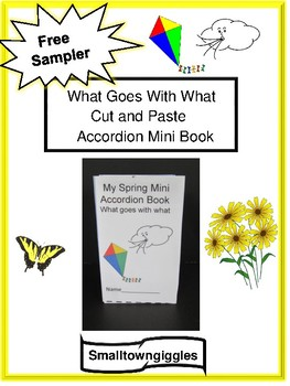 free sampler spring and summer cut paste mini accordion book p k k