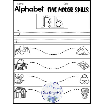 Free Samples Alphabet Fine Motor Skills Set 2