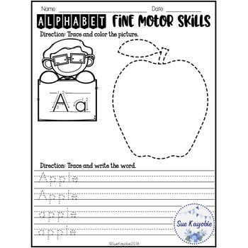 Free Samples Alphabet Fine Motor Skills Set 3
