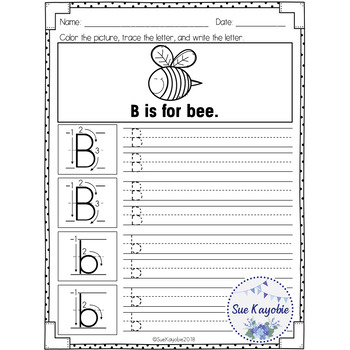 Free Samples Alphabet Writing Practice