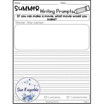 Free Samples Summer Writing Prompts