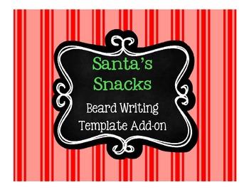 Free Santa's Beard Writing Template