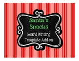 Free Santa's Beard Writing Template