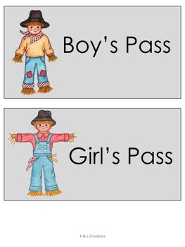 Free Scarecrow Labels/Name Tags, Bookmarks