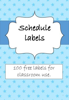 Free Schedule Labels