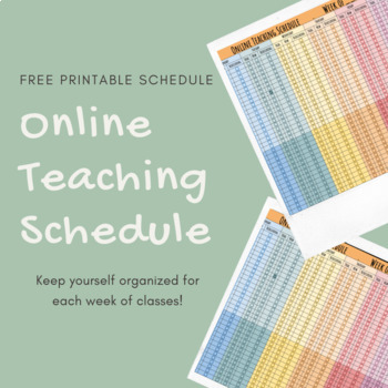 Free Schedule for Online-English Teachers