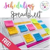 Free Scheduling Spreadsheet