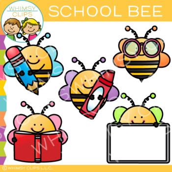 free school bee clip art by whimsy clips teachers pay teachers rh teacherspayteachers com Bee Clip Art No Background Bee Clip Art
