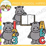 Free School Hippo Clip Art
