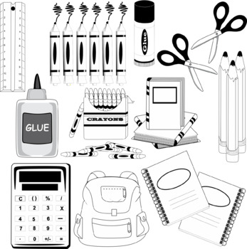 Free School Supplies Clip Art