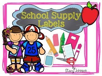 {Free} School Supply Labels