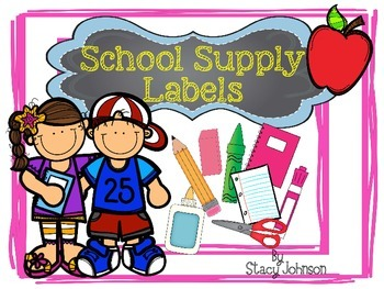 {Free} School Supply Labels