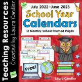 Free School Year Calendar (2019-2020)
