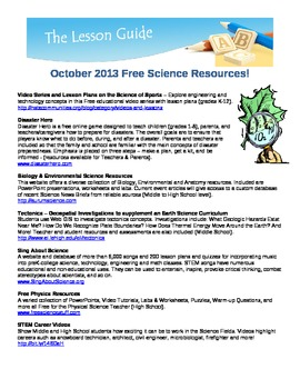 Free Science Resources October 2013