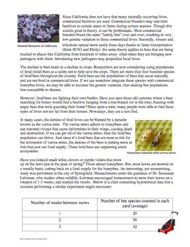 Science Literacy - Science Sub Plan- Bees and Pollination