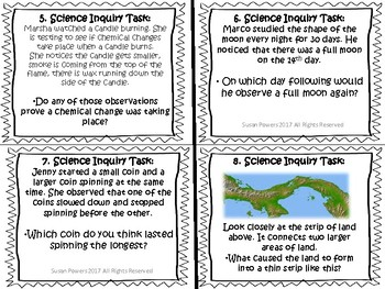 Free Science Task Cards