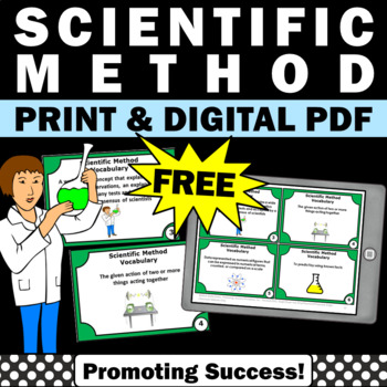 FREE Scientific Method Task Cards, Scientific Method Activities & Games